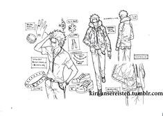 K-Project settei 160 page+cover,LF trade models sheets,reference sheet,anime concept art,character design,production artworks #Kproject #MikotoSuoh #settei #設定資料