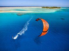 kiteboarding ... French Polynesia