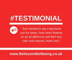 Client testimonial for one of my 90 minute Super Sessions www.BelieveinWellbeing.co.uk Reiki and holistic massage in Chichester and Hayling Island Holistic Massage, Thank You For Today, Chichester, Homeopathy, Massage Therapy, Reiki, Believe, Calm, Island