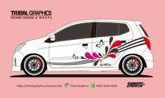 Sticker Mobil Sorong, Agya & Ayla Sticker Design.  TRIBAL GRAPHICS jln. Trikora,Transad,Aimas Kab.Sorong Papua Barat Call/SMS/WA (0852-5434-4693)  #TribalGraphics #CuttingSticker #3DCuttingSticker #Decals #Vinyls  #Stripping #StickerMobil #StickerMotor #StickerTruck #Wraps  #AcrilycSign #NeonBoxAcrilyc #ModifikasiMobil #ModifikasiMotor #StickerModifikasi  #Transad #Aimas #KabSorong #PapuaBarat Custom Wraps, Sticker Design, Dan, Stickers, Decals