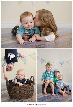 Three kids pose