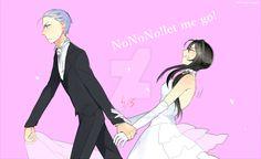 Ryoba: You're ruining my wedding now! let me go! Saiko: I will take responsibility for marrying you Ryoba:What?!No! I want my senpai! Saiko: Do you think you have a choice? Ryoba:W-what...