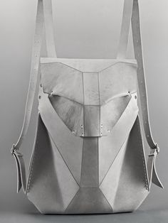 GEOS SCAPULA Handmade matte leather backpack by OMTURA, featuring a single bolt closure, adjustable shoulder straps and an inside pocket. Available in BLACK and GREY leather Fabric: Leather Height: Width: White Leather Backpack, Grey Leather, Leather Bag, Black Handbags, Leather Handbags, Womens Designer Bags, Metallic Bag, Cute Backpacks, Designer Backpacks
