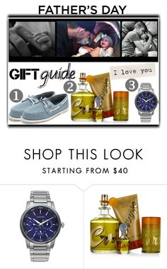 """Father's Day Gift Guide"" by slynne-messer ❤ liked on Polyvore featuring Citizen, CURVE, Sperry, men's fashion, menswear and fathersdaygiftguide"