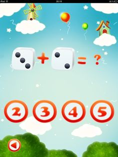 child has to select the correct answer. app education math addition first grade classroom arithmetic numeracy