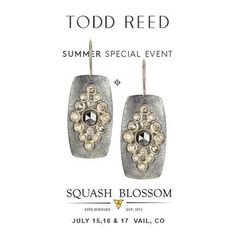 When you're out and about in Vail, CO this weekend, stop in @squashblossomvail to experience Todd Reed Jewelry. #squashblossomvail #toddreedjewlery #rawelegence #oneofakind