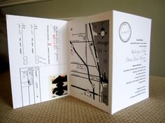 Make your own wedding invitations- no need for envelope . RSVP post card!