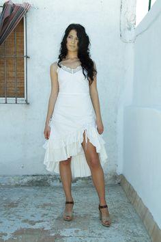 Vestido triana con fibras naturales