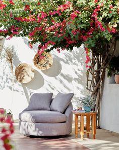 Barwick Indoor/Outdoor Swivel Chair | Anthropologie Outdoor Living