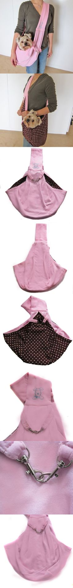 Alfie Couture Designer Pet Accessory - Chico Reversible Pet Sling Carrier - Color: Pink - This reversible sling dog carriers are the perfect combination of convenience and style. Convenient sling-style carrier loops over shoulder while the pet rests in the pouch on the opposite hip to keep... - Carriers - Pet Supplies - $28.99