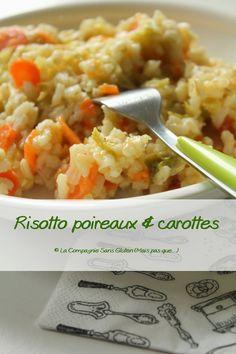 Un délicieux risotto, sans gluten, sans lait, sans oeufs, sans fruits à coques, sans vin blanc. Risotto sans vin.