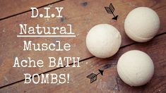 D.I.Y Natural Muscle Ache Bath Bombs // Menstrual Cramps // Muscle Pains...