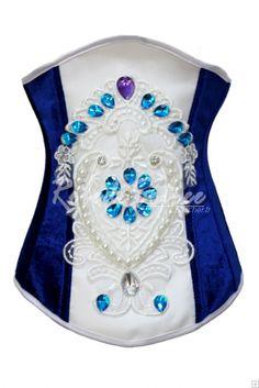 d0b4fe054c Bustier et Corset-Sapphire corset de velours gilet sculpter le corps corset  Corsé Bajo El