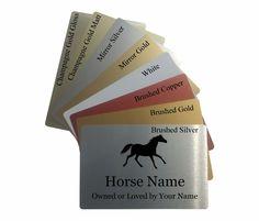 Personalised Horse /& Owners Name Metal Aluminium Sign Stable Door Plaque 20x15cm