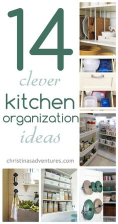 kitchen organization ideas I really need to utilize the baskets and the ones inside cabinet/pantry doors.   http://christinasadventures.com/2013/07/diy-sofa-table.html