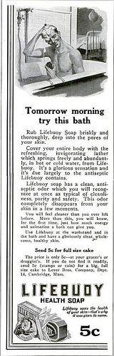 1914 Vintage Advert - Lifebuoy Soap