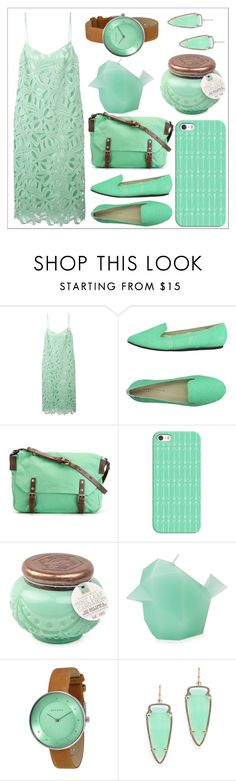 """""""Untitled #52"""" by chanlee-luv ❤ liked on Polyvore featuring Rochas, Charles Philip Shanghai, Ally Capellino, Casetify, Paddywax, Skagen and Kendra Scott"""