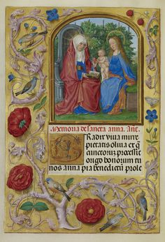 Master of James IV of Scotland:  Virgin and Child with Saint Anne (book of Hours)