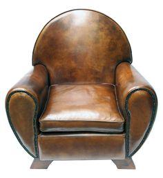 Ledersessel - Leder - Art Deco - Antiquitäten - Antik - Möbel