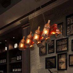Kensington Collection Vintage Glass Bottle Industrial 8 Lights