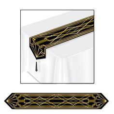 Gangster-Roaring-20-039-s-Art-Deco-TABLE-RUNNER-Birthday-Party-Decoration