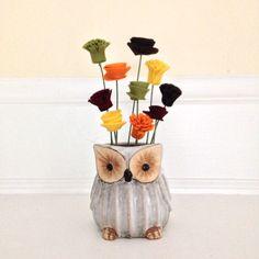 Small owl arrangement - SOLD
