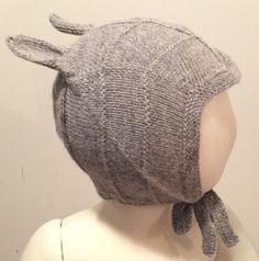 Huttelihut alpakkalue grå med kaninører