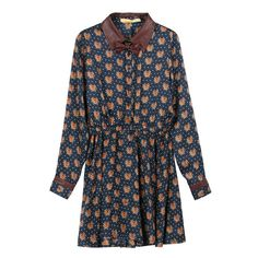 Womens Leopard Bow-Tie Lapel Dress , $69