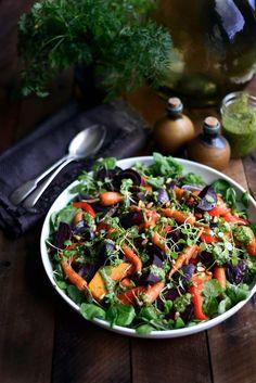 Autumn SaladMorning, Noon or Night SaladOmmmmm Nom Nom Brown Rice Salad with Roast Pumpkin, Avocado and HummusUgly Beautiful Tomato Salad (don't be afraid of the weird ones)'Gala' Prawn, Mango, Avocado