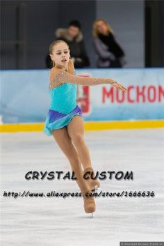 Custom Girls Figure Skating Competition Dresses Graceful New Brand Ice Figure Skating Dresses Children DR3755