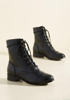 #ModCloth - #ModCloth Flaunt Your Footwork Boot in Black in 9 - AdoreWe.com
