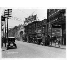 1920s Philadelphia Germantown Street Scene Old Cars