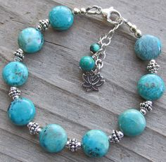 Chrysocolla Lotus Sterling Silver and Healing by IndieWolf on Etsy