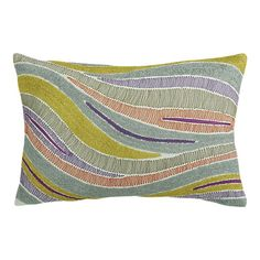Embroidered Alexis Pillow from Crate & Barrel