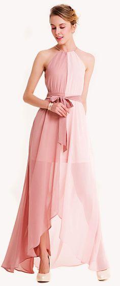 0e7ba8b47f1 Women Fashion Beautiful Dress Two Tone Dip Hem Chiffon Dress With Weave  Strap