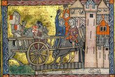 Lancelot dans la charrette d'infamie
