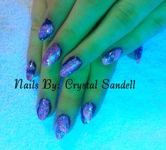 Galaxy Stiletto Nails...