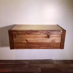Floating Barn Wood Style Bedside Table / End Table / by UrbanBilly