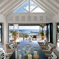 Modern Dining Room with Ocean Views < Editors' 50 Favorite Coastal Rooms - Coastal Living