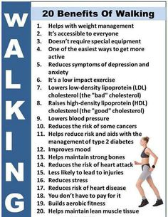 20 benefits from walking