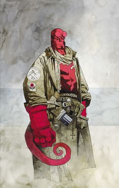 hellboyfansinhell:  The very first Hellboy painting by Mike Mignola.