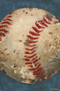 Vintage Baseball Canvas Reproduction- Blue-oopsy daisy, vintage baseball, sports, baseball, childrens wall art, wall decor, nursery design, trendy, baby boutique