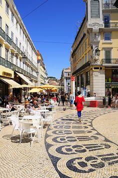 Chiado square. Near Santa Catarina, one of the locations of the film Night Train to Lisbon. Lisbon, Portugal. Photo: © Rui Rebelo