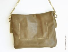Chain and leather purse | by // Between the Lines //
