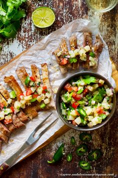 Secreto is a meaty secret from Spain that's quick and easy and practically impossible to mess. It's juicy richness loves the company of tangy pineapple salsa Fish Recipes, Meat Recipes, Healthy Recipes, Fish And Chicken, Pineapple Salsa, Andalusia, Everyday Food, Bar Ideas, Healthy Choices