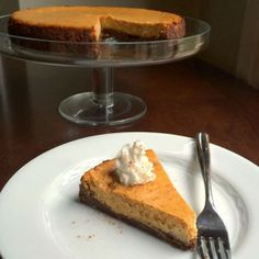 Pumpkin Cheesecake with a Gingersnap Crust {Anolon & Wüsthof Giveaway!}