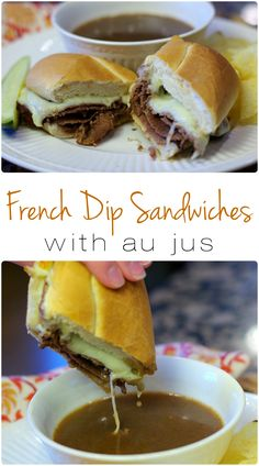 French Dip Sandwiches with Au Jus - Home & Plate