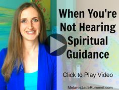 VIDEO: What to do when you're asking for spiritual guidance and not getting answers. http://melaniejaderummel.com/when-youre-asking-for-guidance-and-not-getting-answers/?
