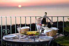 Beautiful Sunsets over Forio from hotel Poggio del Sole in Ischia