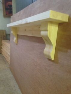Chunky Solid Pine Mantle / Pine mantel shelf with Corbels / plus made measure Diy Mantel, Mantle Shelf, Wood Mantle, Fireplace Shelves, Fireplace Mantle, Shelf With Corbels, Wooden Shelf Brackets, Cottage Fireplace, Pine Shelves